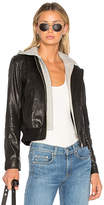 A.L.C. Edison Leather Jacket in Black