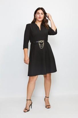 Karen Millen Curve Forever Chain Belt A Line Dress