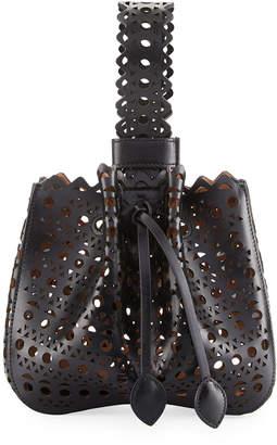 Alaia Vienne Lux Laser Cut Bucket Bag, Noir