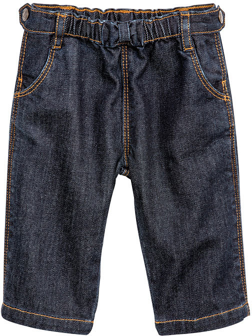 Petit Bateau Baby Girl Wool And Cotton Jeans