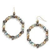 BaubleBar Bellflower Hoop Earrings