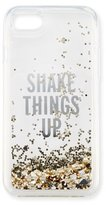 Kate Spade shake things up iPhone 7 case, clear/gold glitter