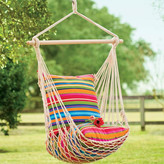 Plow & Hearth Rope Cotton and Polyester Chair Hammock