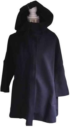 Cos Navy Cotton Coat for Women