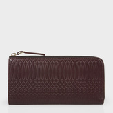 Paul Smith No.9 - Large Brown Leather Zip-Around Purse