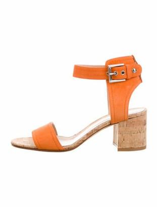 Gianvito Rossi Suede Sandals Orange