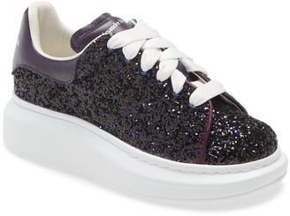 Alexander McQueen Oversized Glitter Platform Sneaker
