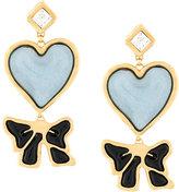 DSQUARED2 heart drop earrings