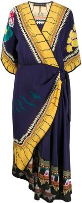 Etro Printed Wrap-Style Midi Dress