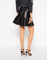 Needle & Thread Peplum Leather Skirt