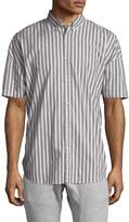 Zanerobe Men's Striped Rugger Cotton Sportshirt