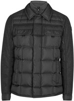 Moncler Blas Quilted Flannel And Shell Jacket