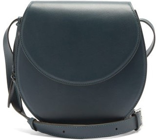 Hunting Season The Saddle Leather Bag - Dark Blue