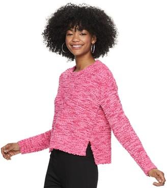 Candies Juniors' Candie's Crew Neck Hi-Lo Pullover Sweater