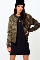 Boohoo Boutique Sofia Quilted Bomber Jacket