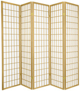 Oriental Furniture 6' Tall Window Pane, Special Edition, Gold, 5 Panels