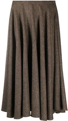 Lardini Checked Circle Skirt