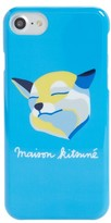 MAISON KITSUNÉ Fox Head Iphone 7 Case - Blue