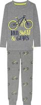Joules Printed cotton pyjama set 2-12 years