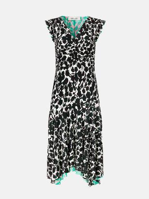 Diane von Furstenberg Dylan Reversible Tissue-Jersey Midi Dress