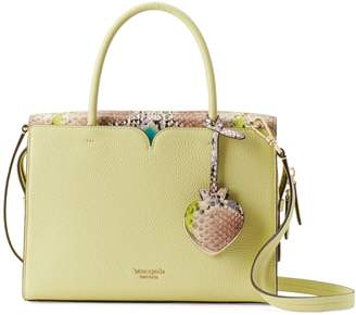 Kate Spade Medium Spencer Snake-Embossed Leather Satchel