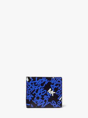 Michael Kors Brooklyn Logo Crossgrain Leather Billfold Wallet