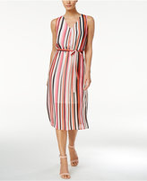 Nine West Striped Self-Tie Midi Dress