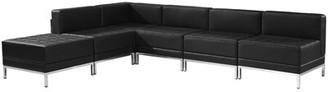 Titania Orren Ellis Modular Sectional with Ottoman Orren Ellis Upholstery Color: Black