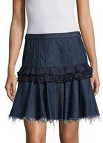 MAGGIE MARILYN Denim Cotton Mini Skirt