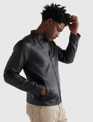 Lucky Brand Clean Leather Bonneville Jacket