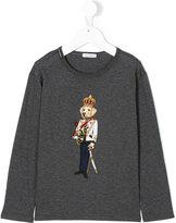 Dolce & Gabbana king dog appliqué top - kids - Cotton - 6 yrs