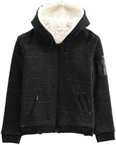 Little Eleven Paris Partition Marl Lined Hoodie with Zip