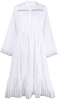 See by Chloe embroidered cotton poplin midi dress