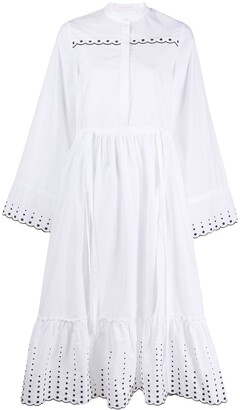 See by Chloe Embroidered Poplin Midi Dress