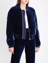 Dion Lee Padded velvet and silk-blend bomber jacket