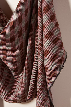 Anthropologie Carson Plaid Scarf By in Pink