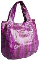 Beirn plum snakeskin 'Jenna' top handle bag