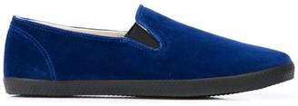 Yohji Yamamoto Velvet Slip-On Shoes