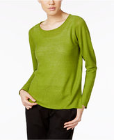 Eileen Fisher Organic Linen Boat-Neck Sweater