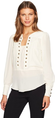 Tracy Reese Women's Button Blouse in Vanilla