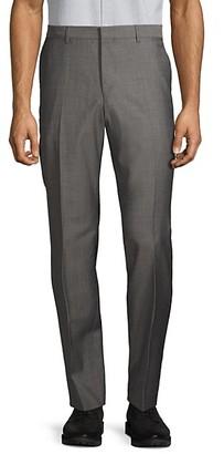 HUGO BOSS Flat-Front Wool Dress Pants