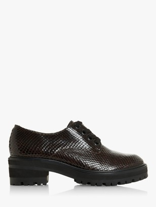 Dune Frankly Leather Platform Brogues
