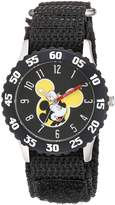Disney Boy's 'Mickey Mouse' Quartz Stainless Steel and Nylon Casual Watch, Color: (Model: WDS000154)