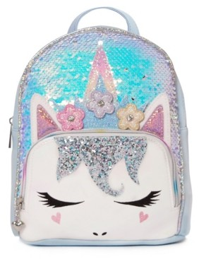 OMG Accessories Omg! Accessories Big Girls Miss Gwen Sequins Mini Backpack with Flower Crown