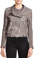 The Kooples Crackle Suede Jacket