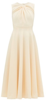 Emilia Wickstead Meryl Knotted Panelled Double-crepe Midi Dress - Cream