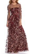 David Meister Embroidered Gown