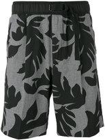 Diesel leaf print shorts