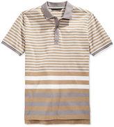 Sean John Men's Core Thin Striped Polo Shirt