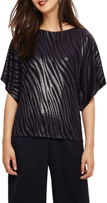 Phase Eight Salome Shimmer Top, Navy